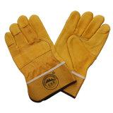 Защитной отрезанные кожей упорные перчатки работы водителя