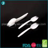 明確か白いカラープラスチックPS使い捨て可能な党デザートのフォーク