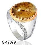 Fábrica Atacado 925 Silver Man Ring com Stone