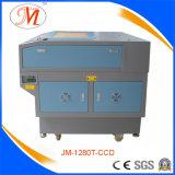 Alta definizione che posiziona la taglierina del laser per la stuoia della tazza (JM-1280T-CCD)
