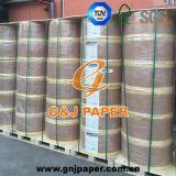 Papier thermosensible de la pâte de bois de 100% 65GSM en roulis pour la réception