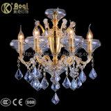 Goldenes Wasser-blaue Kristallleuchter-Lichter