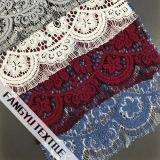 Tessuto del merletto lavorato a maglia nylon Colourful del cotone