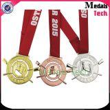 La vendita calda le medaglie di oro della pressofusione 3D con Sandblasted (MTMD006)