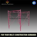 Caminata de la buena calidad a través del marco del andamio para el uso de la construcción