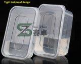 Casella di pranzo di plastica a gettare trasparente di singolo dello scompartimento spessore di rettangolo