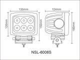 luz del trabajo del alimentador LED de la construcción de la lámpara de 10-30V LED