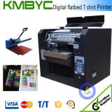 8 Colors Digital Flatbed T Shirt Printer A3 Digital Direct to Garment