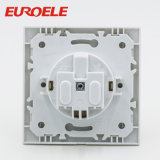 European Type PC White 1 Gang Socket Without Grounding