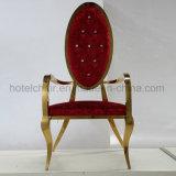 Нержавеющая сталь короля Золота Высок Назад королевского типа роскошная обедая стул