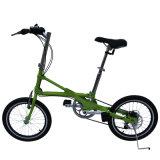 Bici plegable fácil de 16 pulgadas/bici variable de la velocidad/solo marco de la aleación de la bicicleta/de aluminio de la velocidad/bici de la batería de la bici de la ciudad/de litio de la larga vida