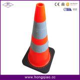 Roter Plastc Straßen-Verkehrssicherheit-Kegel
