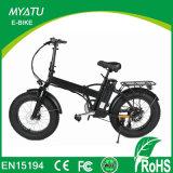 Bicicleta elétrica do pneu gordo do motor da parte traseira da potência verde com LCD-Ys-F0720f