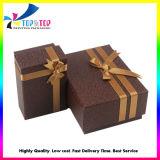 Коробка ювелирных изделий конструкции OEM высокого качества бумажная упаковывая черная