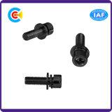 Kohlenstoffstahl-galvanisierte Hexagon-Kontaktbuchse-Schwarz-Zink-Schraube für Maschinerie/Industrie