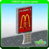 Il doppio esterno personalizzato della visualizzazione del centro commerciale affronta lo Scrolling il LED Lightbox