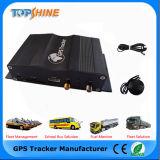 Double traqueur du véhicule GPS de détecteurs d'essence d'IDENTIFICATION RF de Simr d'appareil-photo