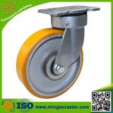 6inch頑丈な旋回装置手のトロリー鋳鉄の車輪の足車