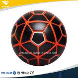 Kundenspezifische schwarze Marken-Trainings-Fußball-Großhandelskugel
