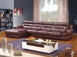 بيتيّة أثاث لازم جلد [ركلينر] قطاعيّ ركن جلد أريكة ([هإكس-سن019])
