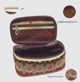 綿のナイロンによって編まれる方法手の化粧品袋