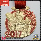수탉 앙티크 금메달의 2017 새해