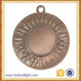Бронзовый пустой логос вспышки вставки резвится медаль