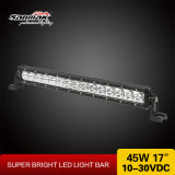 """18 """" 단 하나 줄 크리 말 45W는 Offroad를 위한 LED 표시등 막대를 골라낸다"""