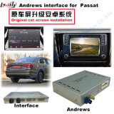 Surface adjacente visuelle androïde de système de navigation de GPS pour Volkswagen Passat (US)