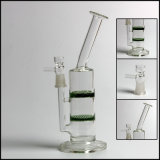 """Pipes en verre droites de plates-formes pétrolières de tube en verre 10 de Hfy """" pour le fumage de nid d'abeilles de tornade de conduites d'eau de 14mm"""