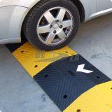 Schwarz u. die 75mm Höhen-Gummipfeil-Straßen-Geschwindigkeits-Stoß gelb färben
