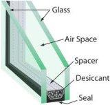 二重ガラスをはめられた絶縁のガラス建物ガラス