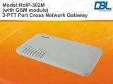 Fonction par radio de conférence du Gateway du Croix-Réseau VoIP (RoIP-302M)
