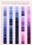 De Kaart van de Kleur van de Draad van het Borduurwerk van de Polyester van het Merk 50d/75D van Sakura met 600 Kleuren
