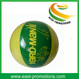 Bola de playa inflable del PVC con la impresión de la insignia