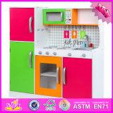Neues Vorschulspielzeug-hölzerne Küche stellte der Form-2016 für Kinder W10c204 ein