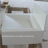 Usine moderne vendant la vanité extérieure solide acrylique de Corian de salle de bains de bassin de salle de bains classée par coutume