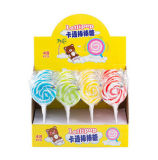 Caramelo duro del Lollipop del remolino dulce de la fruta del arco iris