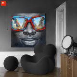 색안경 아프리카 흑인 유화