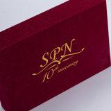 Rectángulo de regalo del rectángulo de joyería del papel hecho a mano de la alta calidad para el embalaje