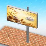 Backlit Aanplakbord van de Reclame van de weg het Zij Tweezijdige Gegalvaniseerde