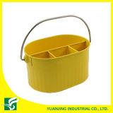 Желтая корзина хранения металла цвета