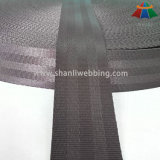 Tenacidade elevada Webbing de nylon do Seatbelt do café preto de 1.5 polegadas