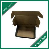 Caixa de papel ondulada e flauta com o Stampping quente de prata