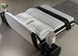 Новая самомоднейшая шикарная кровать белой кожи конструкции для спальни (HC332)