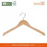 자연적인 색깔 목제 편평한 셔츠 옷 걸이 (EWH001-1)