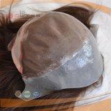 Geen Pruik van de Vrouwen van het Haar van Klappen Zwarte Volledige Poly Met een laag bedekte Hand Gebonden