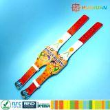 Wristbands ajustables del silicón RFID de la impresión ICODE SLIX de CMYK