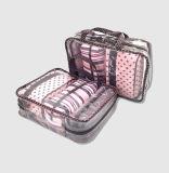 Комплекты PVC & полиэфира составляют мешок косметики сумки подарка