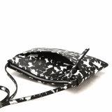 Madame florale noire et blanche laconique Crossbody Designer Handbag (MBNO040074)